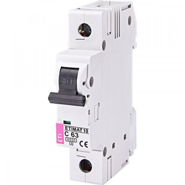 Автоматичний вимикач ETIMAT 6 1p C 10А (6 kA) ETI