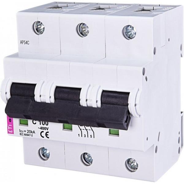Автоматичний вимикач ETIMAT 10 3p C 100А (20 kA) ETI