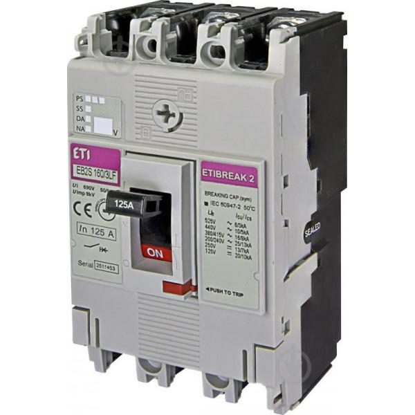Автомат EB2S 160 / 3LF 160A (16kA, фікс. / Фікс.) 3P ETI