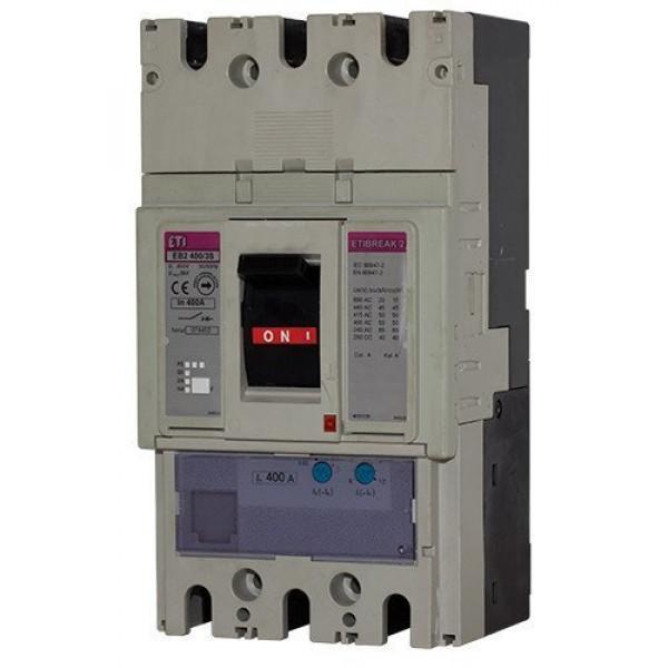 Автомат EB2 400 / 3L 400A (25kA, (0.63-1) In / (6-12) In) 3P ETI