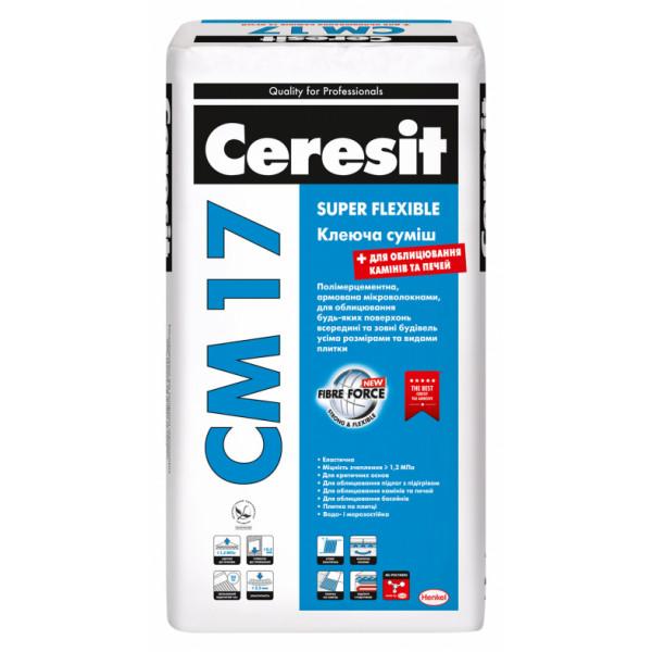 Ceresit CM 17/25кг Еластичний клеючий розчин (пал. 48шт)